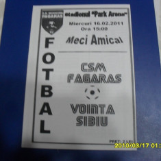 program      CSM  Fagaras  -  Vointa  Sibiu