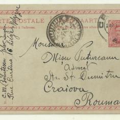 Carte Postala Belgia - Romania, cenzura militara Bucuresti, ww1