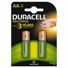 Set 2 acumulatori Duracell, tip AA, 1300 mAh