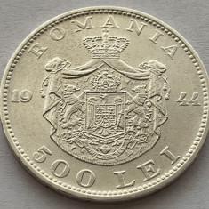 500 Lei 1944 Argint, Romania, Mihai I, a UNC