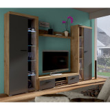 Mobilier living, stejar lefkas grafit, NESEBAR XL