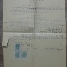 Certificat cetatenie romana// Caliacra, Balcic, 1946