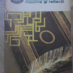 MAXIME SI REFLECTII - LA ROCHEFOUCAULD