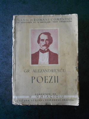 GR. ALEXANDRESCU - POEZII (1940, lipsa pagina de titlu) foto