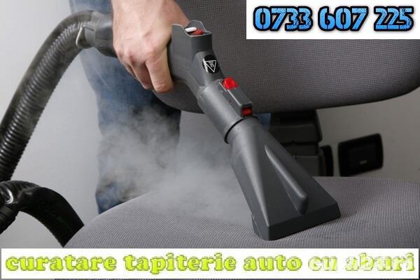 Spalare igienizare tapiterie auto, curatare tapiterie auto cu aburi