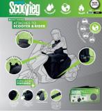 Husa protectie ploaie scuter OXFORD culoare negru marime OS rezistenta apa acoperire picioare