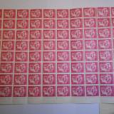 Bloc 80 buc. 3 bani rosu, 1uzuale 1955, nestampilat