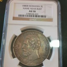 5 lei 1880 au 58 ngc