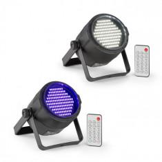 Beamz PLS15, Set V6, stroboscop cu LED-uri PLS20, lumină neagră UV, LED cu lumina reflectoarelor