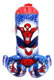 Sac de box de jucarie cu manusi pentru copii, inscriptionate cu SPIDER-MAN