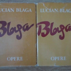 OPERE VOL.1-2 POEZII EDITIE INGRIJITA DE DORLI BLAGA - LUCIAN BLAGA