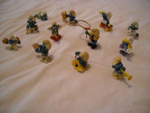 Strumfi, smurfs - 12 figurine medii strumf din cauciuc - set 3