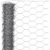 Nature Plasă din sârmă, 1 x 10 m, oțel galvanizat, 40 mm, hexagonal