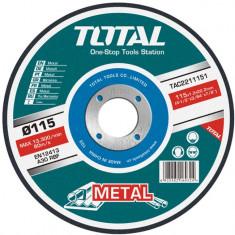 Disc debitare metale, 115 mm, diametru interior 22 mm, YTGT-2211151