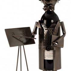 Suport pentru Sticla Vin model Profesor Metal Lucios Capacitate 1 Sticla 37x23.5cm