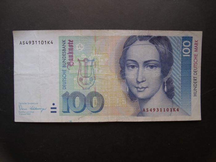 Germania 100 mark 1989 ianuarie 2 (marci germane, deutsche mark) AS49