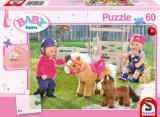Puzzle La ferma de ponei, 60 piese, Schmidt