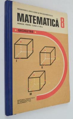 Manual pentru clasa a VIII-a Matematica, Geometrie 1988 foto