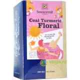 Ceai Turmeric Floral cu Flori Trandafir si Soc Ecologic/Bio 18dz