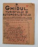 GHIDUL TURISTULUI SI AUTOMOBILISTULUI CU UNA PLANSE DIN HARTA ROMANIEI , SCARA 1/ 300.000 , intocmita de M.D. MOLDOVEANU , ZONA TURNU - SEVERIN , 146