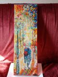 Plimbare in parc-pictura ulei pe panza