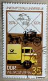 Germania (DDR) Mașină poștală, Posta, Stampilat