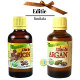 Ulei de Ricin 50ml + Ulei de Argan 50ml