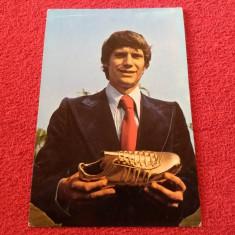 Carte postala fotbal (veche)-atacantul DUDU GEORGESCU (Dinamo Bucuresti)