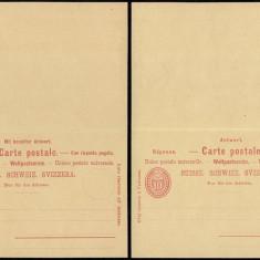 Switzerland - Postal History Rare Old Postal stationery + Reply UNUSED DB.120