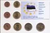 Estonia Set 8A - 1, 2, 5, 10, 20, 50 euro cent, 1, 2 euro 2011 - UNC !!!, Europa