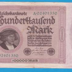 (1) BANCNOTA GERMANIA - 100.000 MARK 1923 (1 FEBRUARIE 1923)