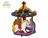 Puzzle 3D de colorat - Carusel, 23 piese