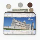 PISA ITALIA : Cadou Geanta de monede : Turn de captușeala Italian Pride Flag Country Country Souvenir Travel, Generic