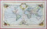 Know World, Planiglob - Gavura colorata, 1714