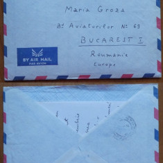 2 scrisori ale diplomatului Mihai Sturza expediate din Kinsasha catre Mia Groza