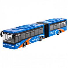 Autobuz de jucarie, 21x3x3 cm, albastru