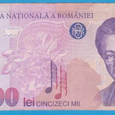 (1) BANCNOTA ROMANIA - 50.000 LEI 1996, PORTRET GEORGE ENESCU