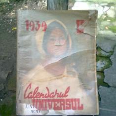 CALENDARUL UNIVERSUL 1939
