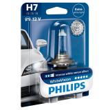 Bec auto cu halogen pentru far Philips White Vision H7 12V 55W PX26D, 1 buc Kft Auto