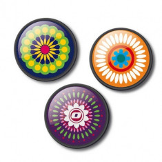 Set 3 insigne pentru ghiozdan roller - Mandala | Vector International