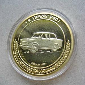 A189-UNC-Medalie Trabant P 601 aniversara constructie an 1964-atunci in DDR.