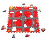 Cumpara ieftin Covor puzzle din spuma Soft Cars 3 Modular Race 9 piese, Knorrtoys