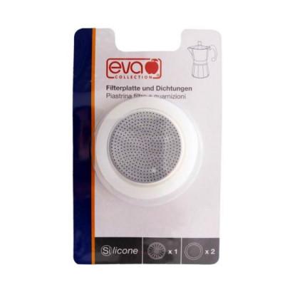EVA Blister filtrugarnituri silicon Moka aluminiu 1 ceasca foto