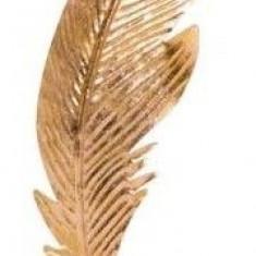Decoratiune Pana culoare aurie dimensiune 30 cm