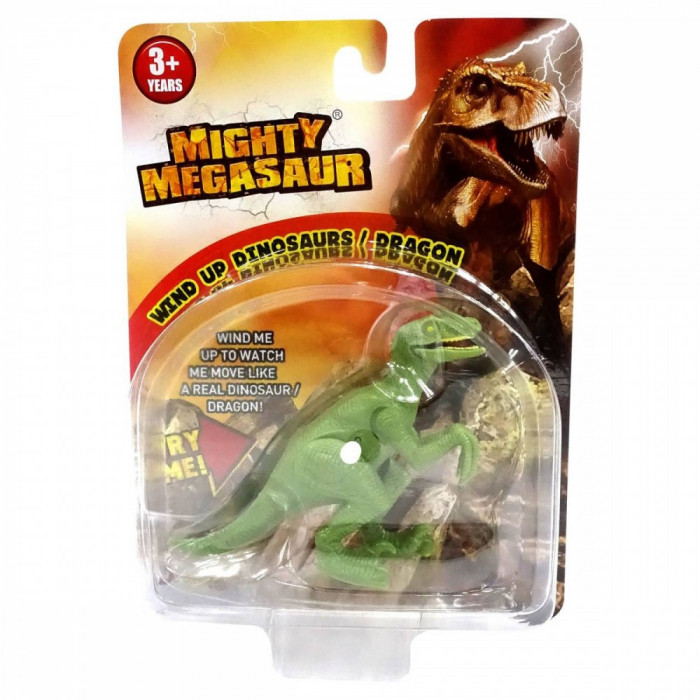 Dinozaur cu cheita Dragon I Velociraptor Green