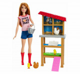 Cumpara ieftin Barbie, cariere - set mobilier cu papusa la ferma