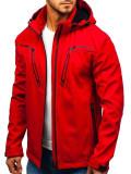 Cumpara ieftin Geacă de tranziție softshell bărbați roșie Bolf 5427