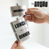 Plosca Metalica Breakfast Lunch Dinner Th3 Party