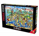 Cumpara ieftin Puzzle Anatolian European World, 1500 piese