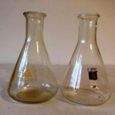 Staclarie laborator (chimie) 2 vase masura volumetrica toi 100ml, Turda si URSS